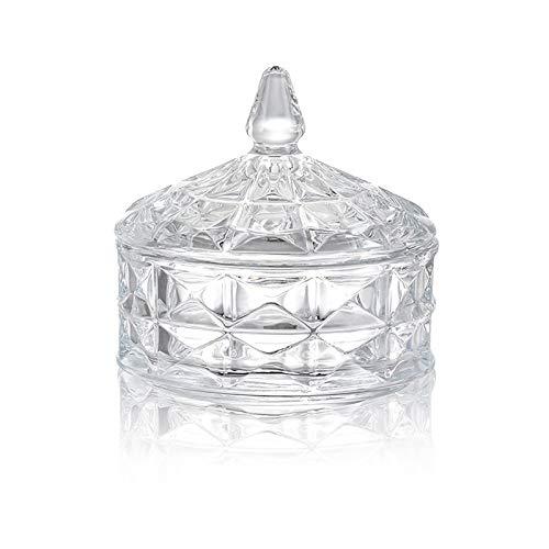 YIFEI2013-SHOP Azucarero Azúcar Cuenco hogar Transparente Tarro de Caramelo con Tapa de Cristal Vidrio Tarro de café Cubo Cubo tazón de azúcar Cuenco con múltiples Capas Azucarero de Cocina