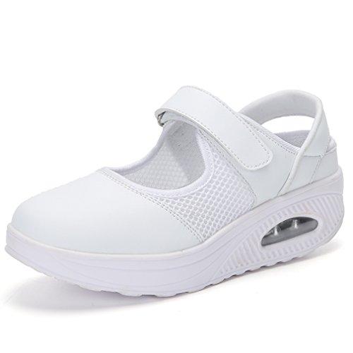 Solshine - Zapatillas deportivas para mujer, ligeras, de malla, con cierre de velcro, color, talla 39 EU