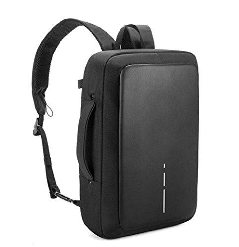 WYXIN Sac à dos pour ordinateur portable résistant à l'eau pour hommes Sac à dos multifonctions pour le vol avec port de chargement USB pour ordinateur portable 15,6 ''