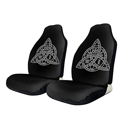 Car Seat Covers,Retro Witch Celtic Knot Front Seat Cover Protectors for Carseats Bucket Vehicle Seat Covers for Cars SUV Truck, Auto Accessories