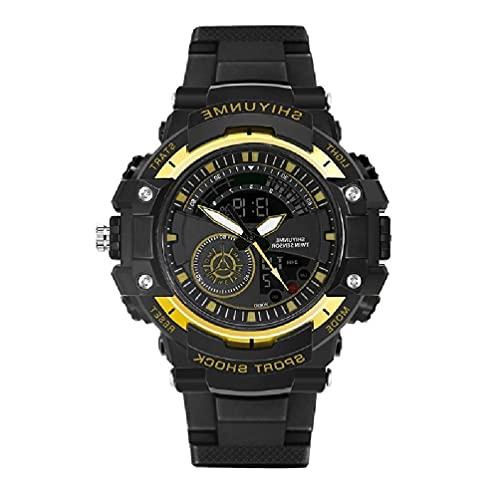 OWENRYIN Reloj de pulsera para hombre, analógico, digital, resistente al agua, deportes militares, multifunción, cronómetro, reloj de pulsera con luz de fondo