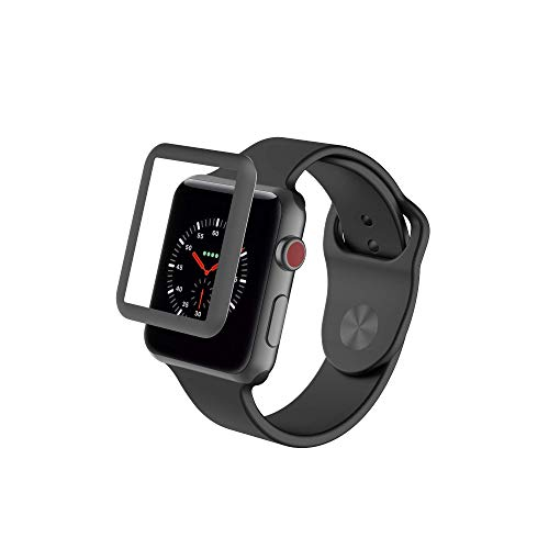 ZAGG InvisibleShield Glass Luxe HD Clarity + Reinforced, Tempered Glass Screen Protector for Apple Watch (42mm) Series 3 - Space Gray