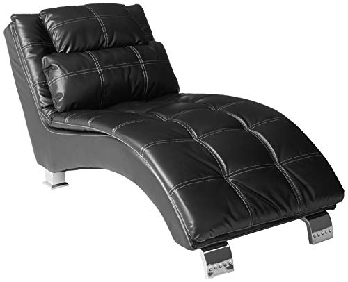 Dilleston Upholstered Chaise Black
