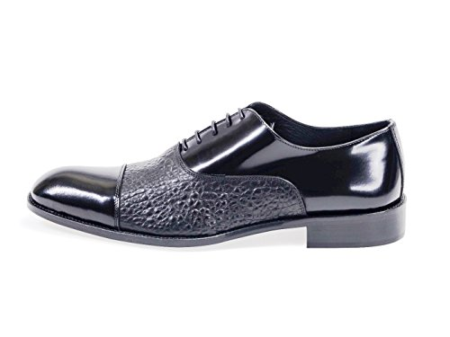 Mens Two Tone Oxford Black All Leather Sartorial Shoes Size 13