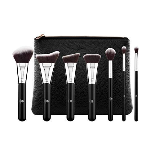 """Set de Pinceaux de maquillage """"L'accessoire"""" - 7 pinceaux de grande qualité dont 5 pour le teint et 2 pour les yeux -Poils fins"""