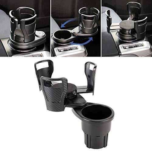 nobrand Auto Lüftungs Cupholder Softdrink Wasser Kaffeetasse BO Jrc Multifunktions-Auto-Universal-Carbon-Faser-Textur-Becherhalter Getränkehalter Auto Wasser Cupholder