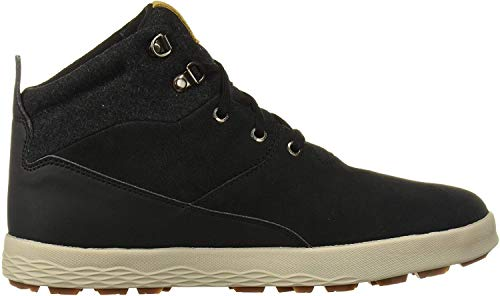Jack Wolfskin Men's Auckland WT Texapore MID Waterproof Fleece Lined Winter Sneaker Chukka Boot, Black/Beige, US Men's 10 D US