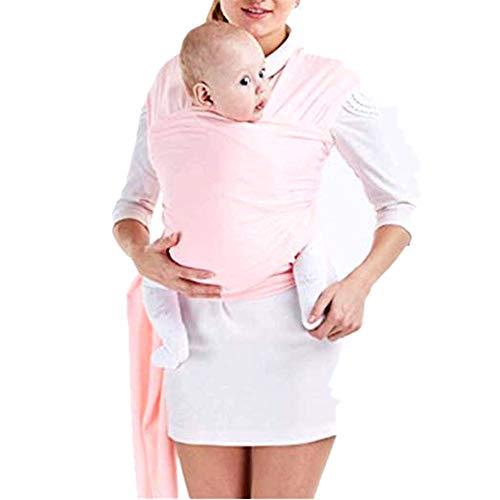 Tragetuch Baby elastisch für Neugeborene und Kleinkinder, Babytragetuch Kindertragetuch Baby Bauchtrage Sling Tragetuch für Baby Neugeborene Innerhalb 16 KG von VOARGE (rosa)