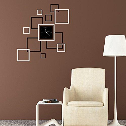 Garwarm - Reloj de pared con diseño 3D moderno y creativo, extraíble,...