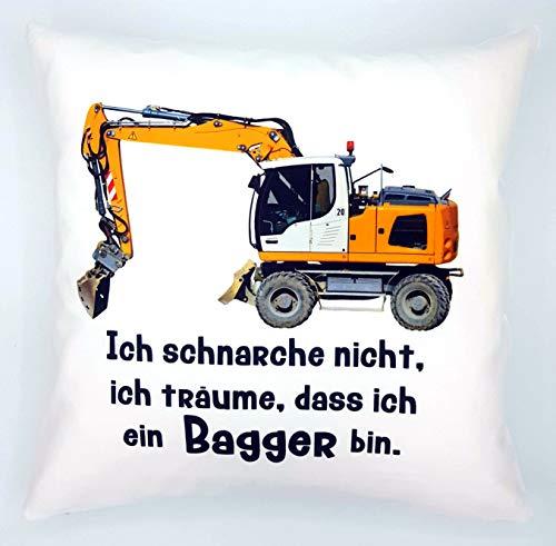 Kilala Anti-Schnarch-Kissen Bagger Spruch Ich Schnarche Nicht Geschenk Geburtstag Bauarbeiter Schnarchen