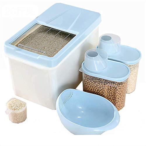 ZXL opbergdoos voor muesli, voor het bewaren tegen vocht, zegel 13 kg, voorkomt vouwen, rijstvat voor gebruik in de keuken (Colo