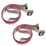 Tegg 2PCS Flat Ribbon Cable 2.54mm Pitch 2...