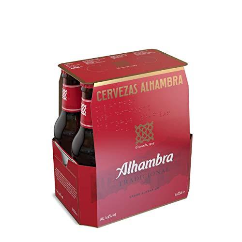 Alhambra Tradicional Cerveza Lager – Pack de 6 Botellas x 25cl – 4,6% Volumen de Alcohol
