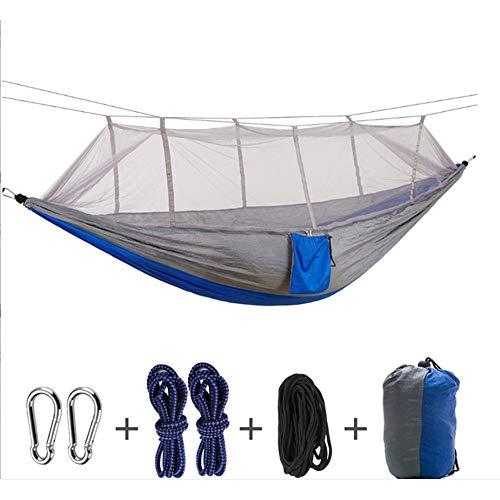 LTTLTT Outdoor-Hängematte mit Moskitonetz Ultraleichte Nylon-Doppel-Campingzelt-Moskito-Hängematte (Größe: 260 × 140 cm)
