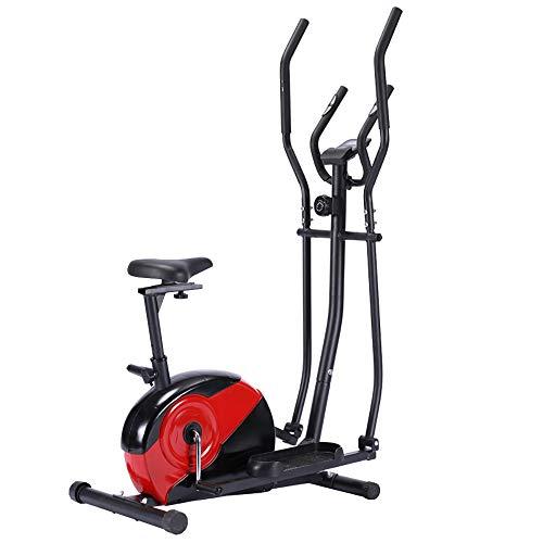 Boomersun Entrenador de elíptica con Monitor LCD 3 en 1 multifuncion,Bicicleta Elíptica Usar en casa con máxima Capacidad 110 kg, con Resistencia magnética Ajustable de 8marchas,Manillar ergonómico