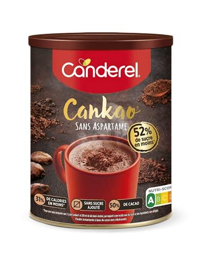 CANDEREL - Cankao – Poudre de Cacao – 31 % de Calories en moins - le Gout du Chocolat Sans Calorie – boîte 250 g