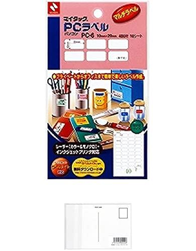 ニチバン マイタック PCラベル 無地 10×20mm PC-6 【まとめ買い 10 パック 】 + 画材屋ドットコム ポストカードA