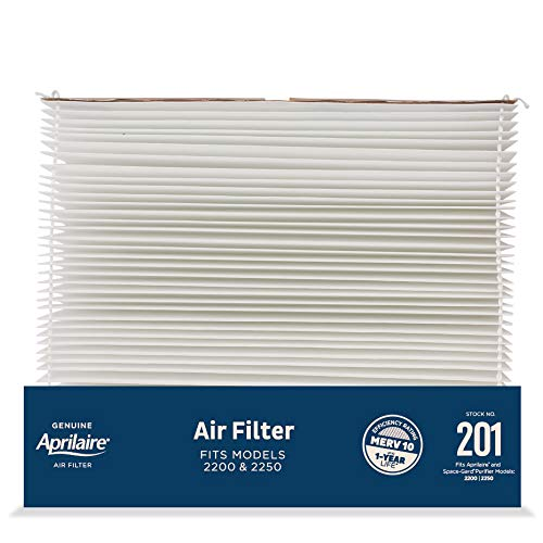 Aprilaire - 201 A4 201 Replacement Filter for Whole House Air Purifier Models: 2200, 2250, Space Gard 2200, MERV 10 (Pack of 4)
