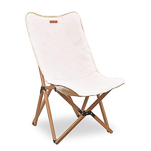 Flytise Silla de pícnic, silla de playa de madera, plegable, plegable, con bolsa de almacenamiento para exteriores, senderismo, barbacoas, picnics de viaje
