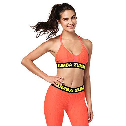Zumba Atmungsaktive Sexy Sport Fashion Workout Bralette Damen mit Trägern Reggiseno Sportivo, Bold...