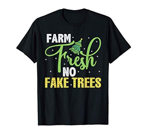 Sapin de Noël naturel frais hiver sans faux arbres T-Shirt
