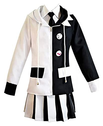 LPQSY Cosplay Vêtements Anime Danganronpa Black White Bear Costume Costume Monokuma Cosplay Outfit Uniforme Monokuma Halloween Carnaval Party Costume de Cosplay pour Hommes/Femmes