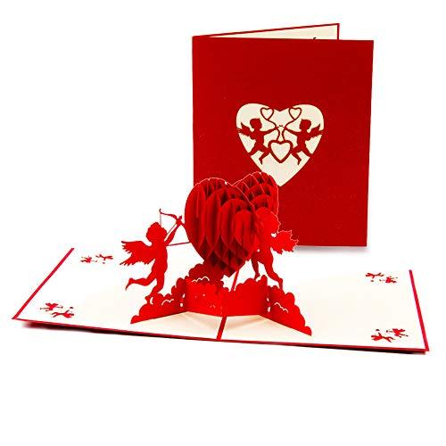 3D-kaart, Pop Up Card voor de meeste gelegenheden, Moederdagkaart Verjaardagskaart Trouwkaart Valentijnsdag Kaart Verjaardagskaart Romantische Kaart Afstudeerkaart