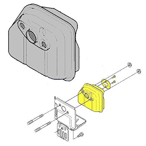 Husqvarna OEM Line Trimmer Muffler 531008696 Fits 224L