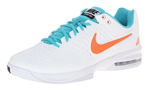 Nike Men's Air Max Cage Tennis Shoes (6, White/Hyper Crimson-Dusty Cactus)
