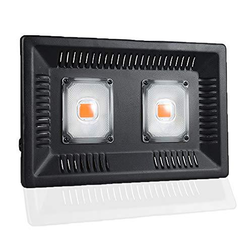 Ultradunne waterdichte plantengroeilamp, plafondlamp voor bloemen en groenten, 100 W LED volspectrum-Cob