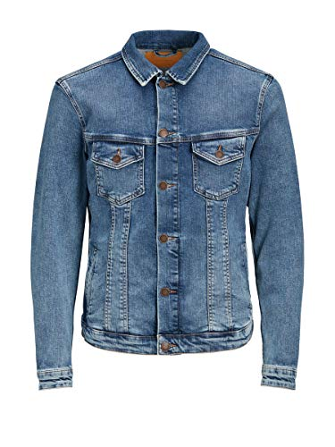 JACK & JONES Jjialvin Jjjacket Jos 399 Noos Chaqueta Vaquera, Azul (Blue Denim Blue Denim), Medium para Hombre