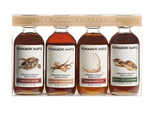 Runamok Maple Organic Vermont Maple Syrup Sampler | Tea Pairing Maple Syrup Collection | 2 oz...
