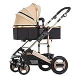 LYP Triciclo Bebé Trolley Trike Cochecito de bebé, Paraguas de Alto Paisaje, bebé Puede Sentarse Cochecito reclinable, Carro Plegable de Choque bidireccional (Color : #1)