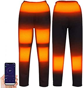 Woorea Pantalones Calefactables Eléctricos para Hombre y Mujer, Ropa Interior Térmica con Aislamiento para Acampar y Senderismo