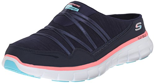 Skechers Sport Women's Air Streamer Fashion Sneaker,Navy/Pink,7.5 M US
