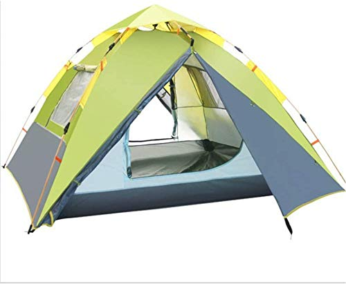 Tenda da Campeggio Leggera, Tenda Zaino Camping Tenda Doppia Impermeabile Belt Hydraulic Belt Borsa Attivata Automaticamente Spiaggia da Esterno per la Pesca in Backpacking (Colore: Blu)