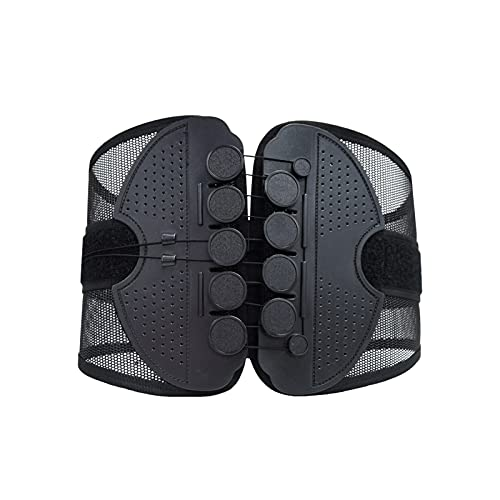 LBBL Cinturón Protección Disco Intervertebral Lumbar, Circunferencia Cintura Ajustable Polea Malla Transpirable Protección Cintura Con Cordón Cinturón cintura ejercicio (Color : A, Size : M)