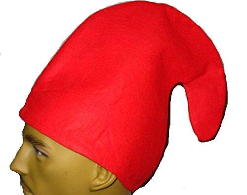 Zwergenmütze für Kinder - Zwergen Mütze Kind - Gnommütze - viele Farben - Gnom Mütz (Rot)
