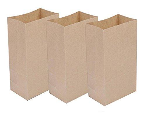 Ocharzy Kraft Bags, 50 Pcs (9.4x5x3 inches, Brown)