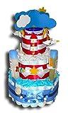 Tarta de pañales mágica con diseño de faro para niños o niñas, regalo...