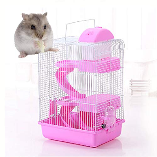 NXL Jaulas para Hamster De Plástico Duro Jaula De Hamster 3 Pisos...