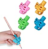 Letdrowy - Pencil Grips for Kids Handwriting for Preschool to learning to write, Pencils holder for toddlers 2-4 years, Writing aid grip tools suitable for kids left and right hands, Children's Training Pen Holding Posture Correction Tools, Special Needs School Supplies.(4 PACK)