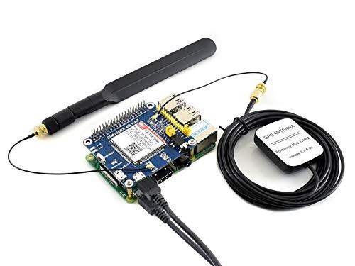 Waveshare 4G/3G/GNSS Hut für Raspberry Pi Zero/Zero W/Zero WH/2B/3B/3B+, basierend auf SIM7600A-H LTE CAT4 bis zu 150 Mbit/s, unterstützt Telefonanrufe, drahtlose Kommunikation.