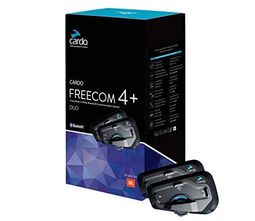 SCALARIDER, Kit Manos Libres Bluetooth, Freecom 4 + Duo, Negro