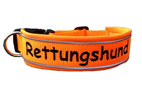 Hund&Hals - Hundehalsband - Halsband NEON Edition - mit Name und oder Telefonnummer, handmade, teilunterlegt oder komplett unterlegt