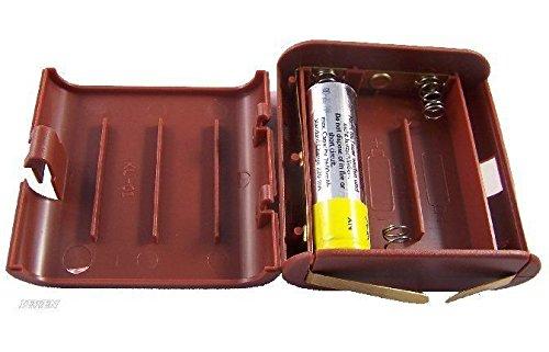 Unbekannt Batteriebox leer, Kunstoff braun, für 3 AA Batterien, wie Flachbatterie 4,5V.