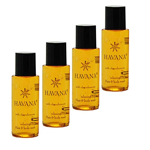 Awek.eu 100 Stück Hotel Shampoo & Duschgel (2in1) Body&Hair 30ml Flasche Havana Serie