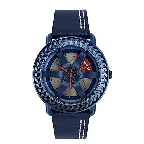 SANDA Reloj Mujer,Reloj Rueda Moda Moda Estudiante Cinturón Reloj-Azul