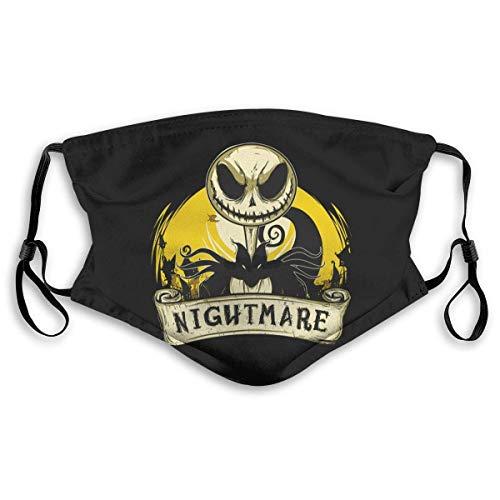 Halloween Verstelbaar Oorlus Gezichtsmasker Nachtmerrie Stofbestendig Veiligheid Mond Masker met 2 Stks Geactiveerd Koolstoffilter