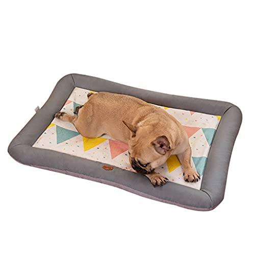 PAPIEEED Alfombrilla de verano para mascotas, almohadilla de perro autorefrigerante para descansar, cama para mascotas de seda de hielo para clima caliente para perro gato conejo